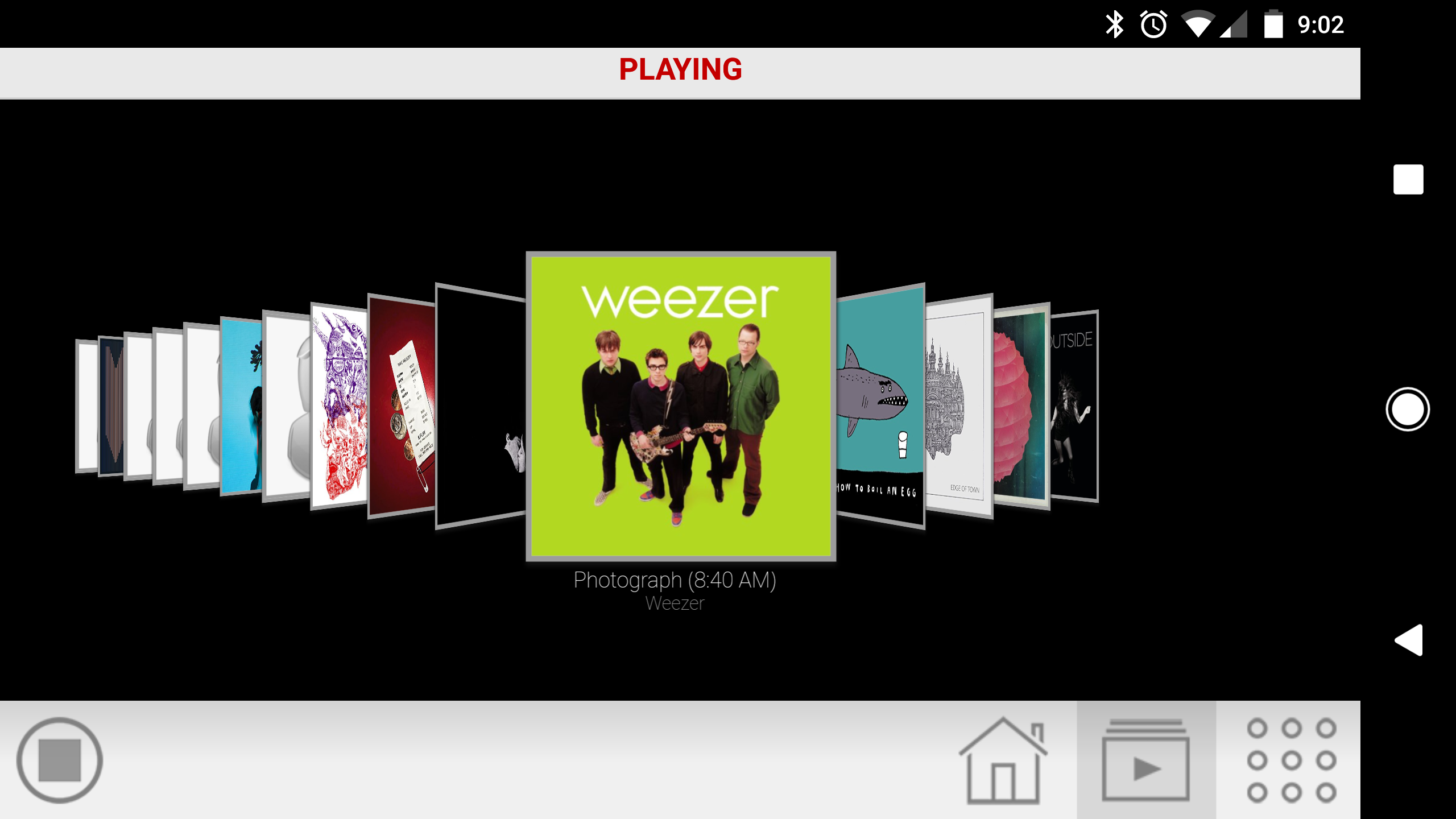 Mobile App Playlist Coverflow Screen
